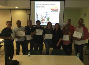 Taller de adiestramiento en Manejo Seguro de Alimentos empleados de Elaboraciones El Trigal.