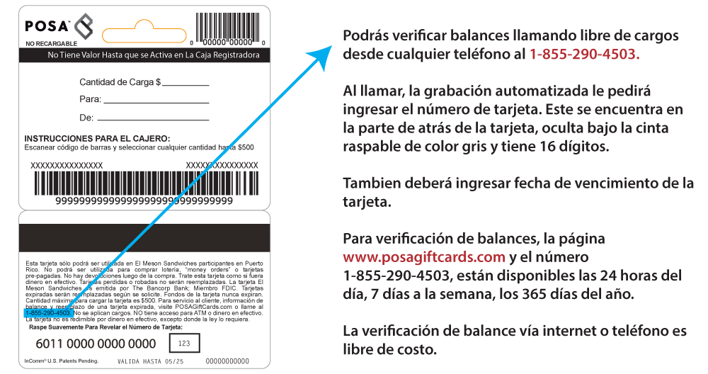 Verificacion balance Meson Gift Card.